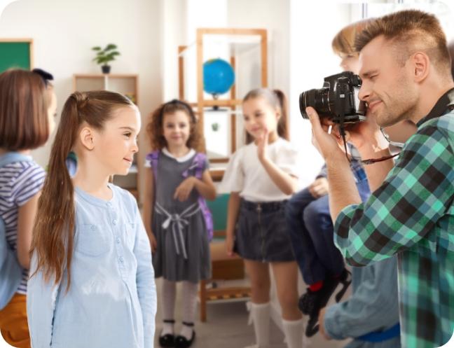צלם עם ילדים